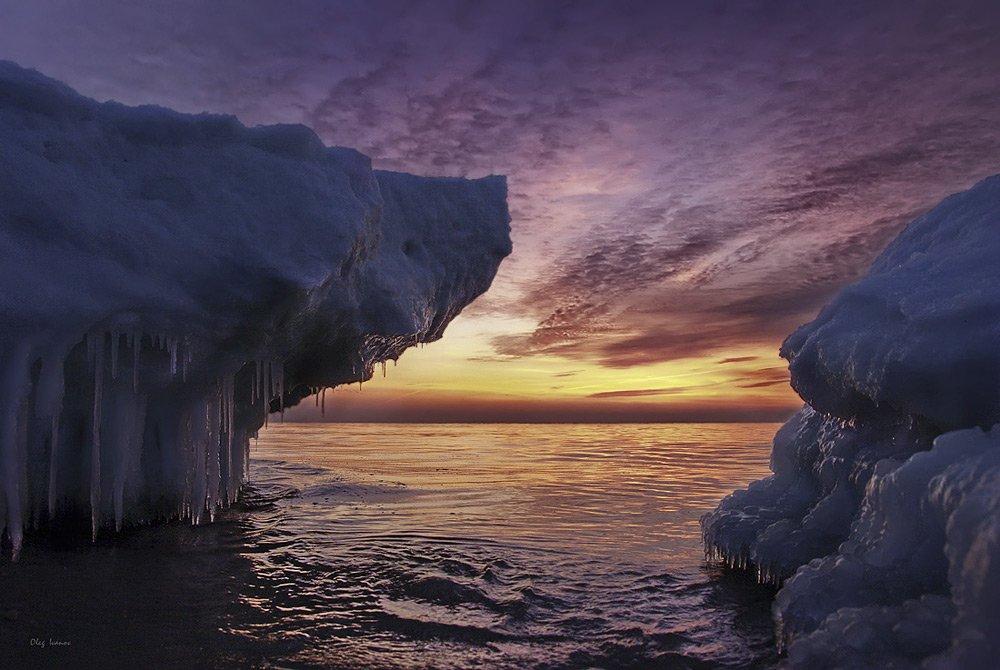 море, лед, зима, балтика, baltiec