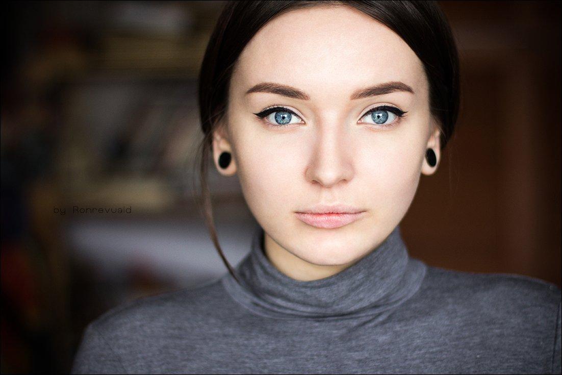 Eyes, Light, Portrait, Глаза, Девушка, Портрет, Свет, Ronrevuald