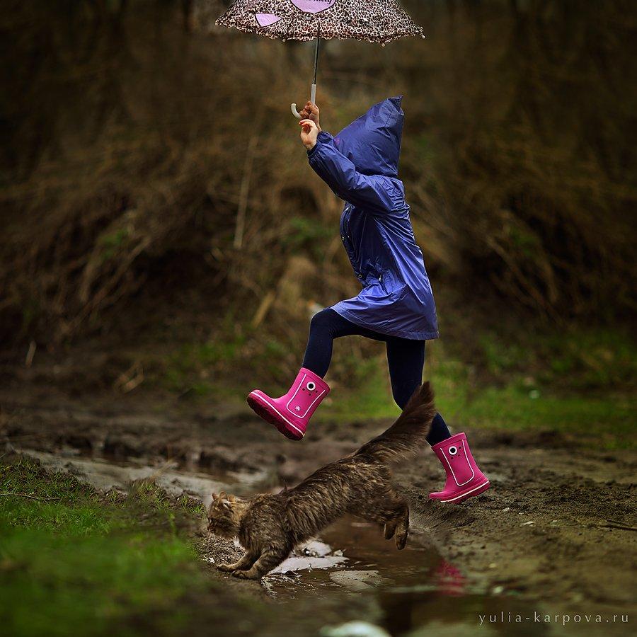child, childhood, kid, cat, Юлия Карпова