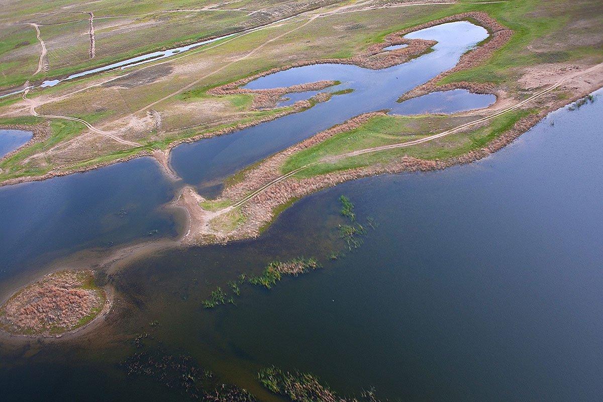 Капчагайское водохранилище, Казахстан, Алматинская область, аэро, aerial, Борис Резванцев