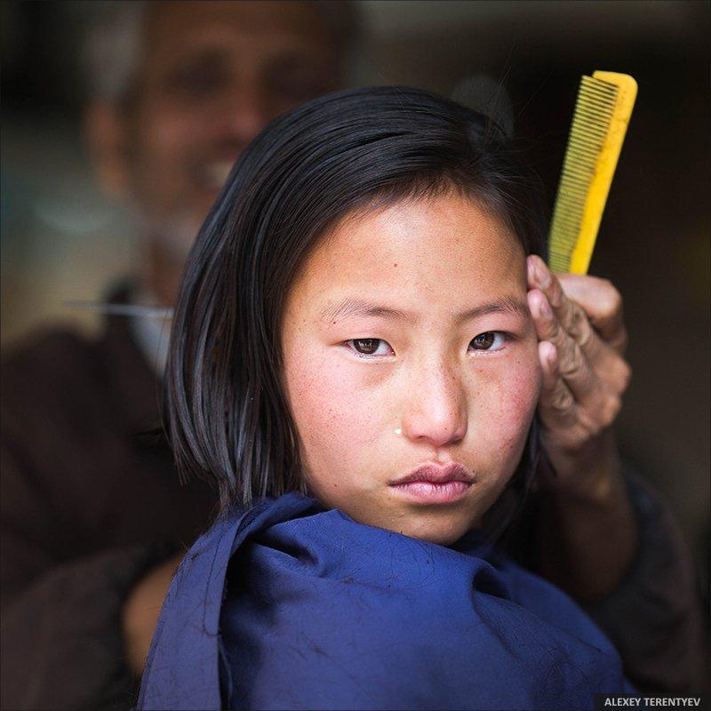 Индия, цирюльник, портрет, взгляд, девочка, Алексей Терентьев