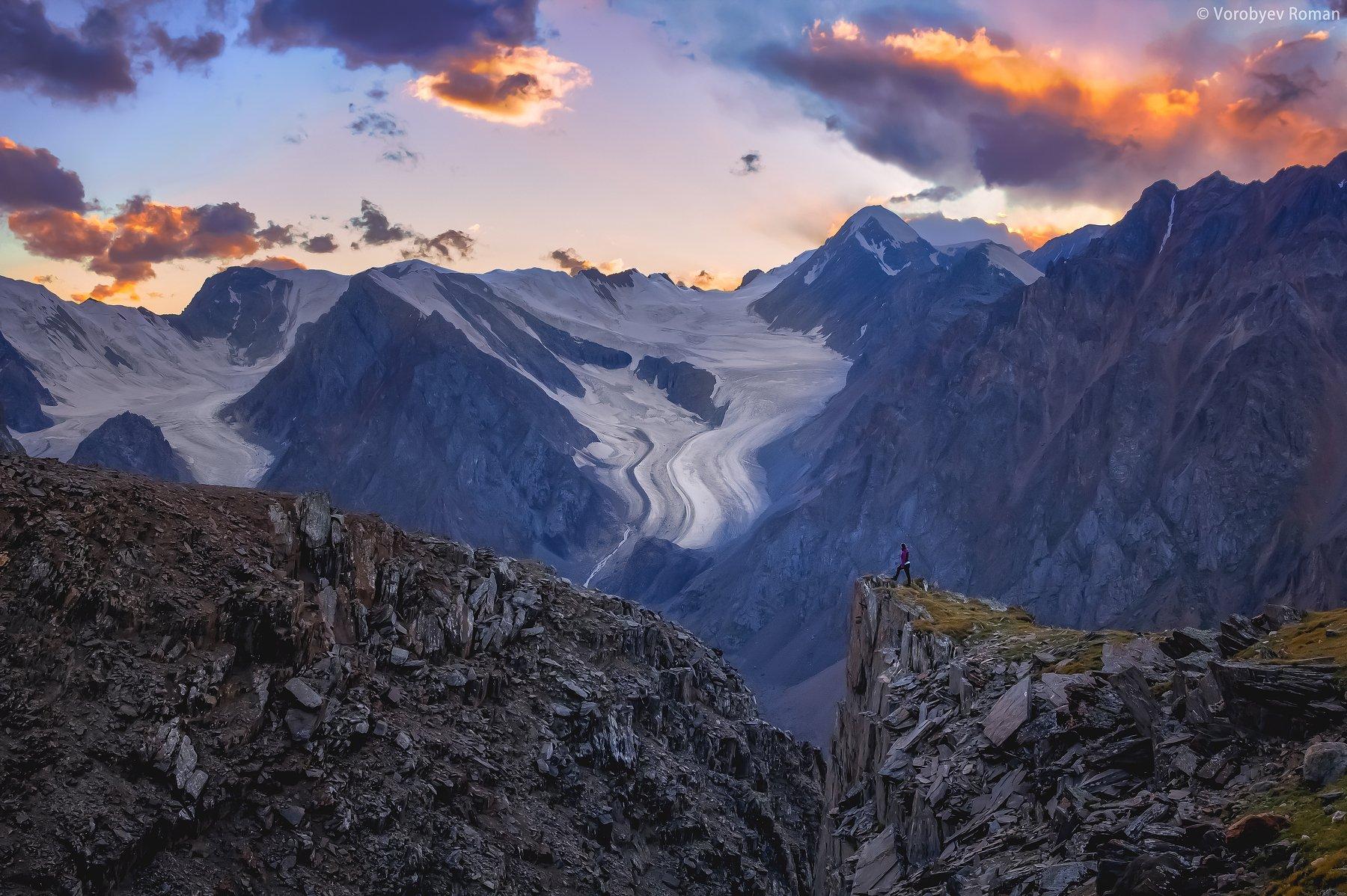 Sunset, Актру, Алтай, Горный алтай, Горы, Закат, Лето, Roman Vorobyev