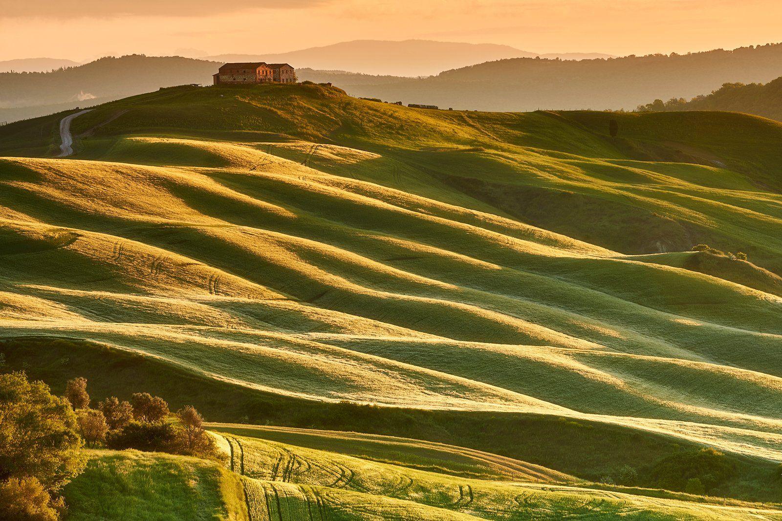 sunrise, tuscany, spring, farm, Jakub