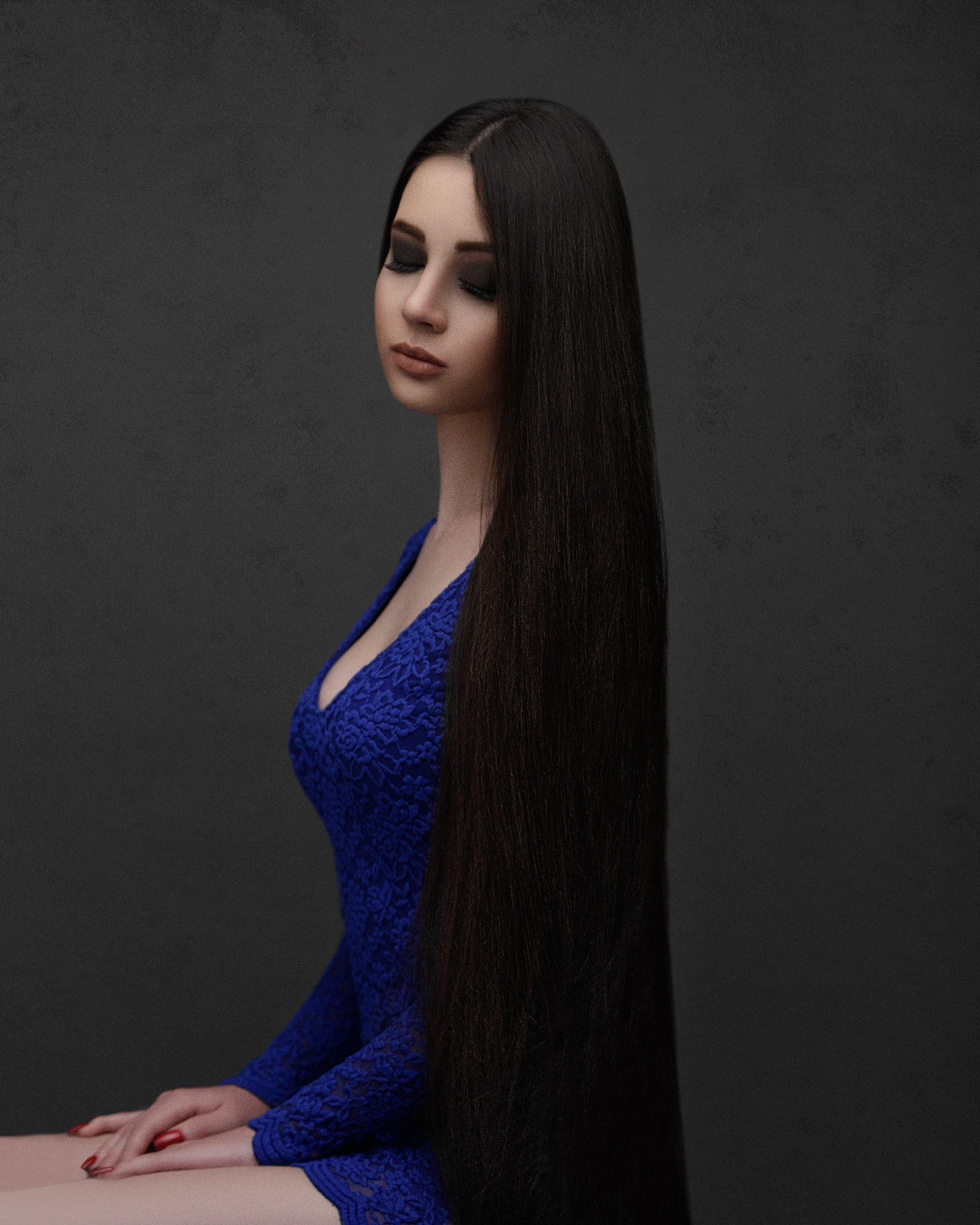 Portrait,Girl,Long,Hair,Mood,, Amirhossein kazemi