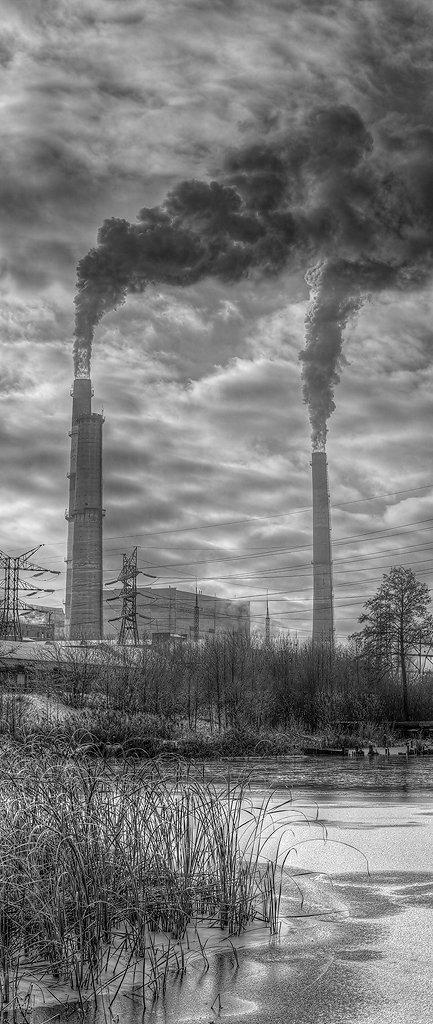 пейзаж, техногеная катастрофа, индустриальный мир, Адясов Алексей