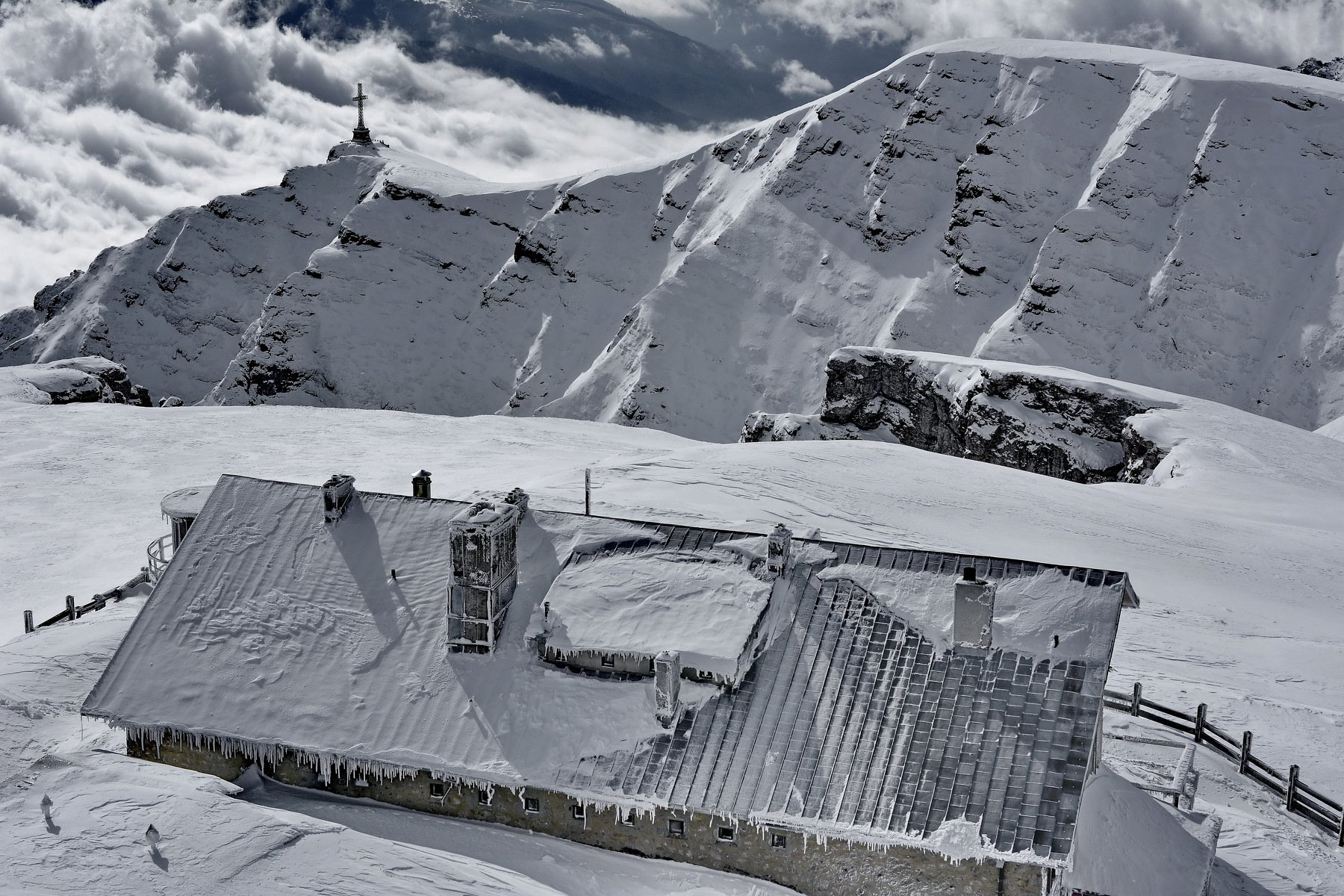 nature, winter, cold, cross, altitude, mountain, Sorin Lazar Photography