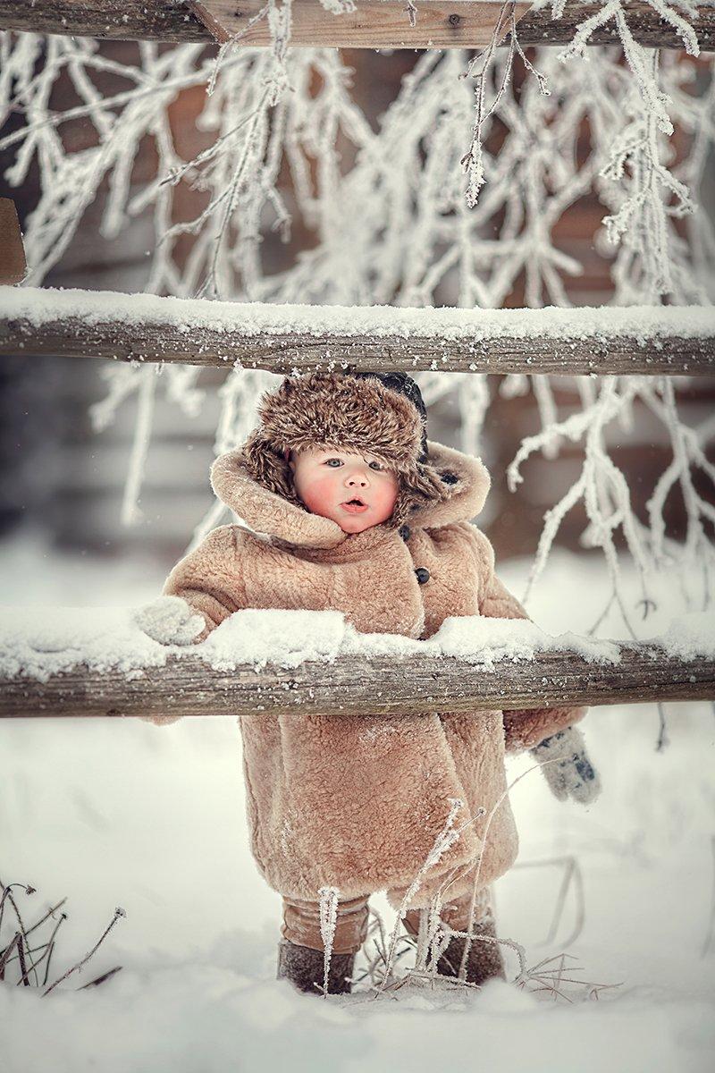 мальчик зима валенки ушанка шуба , Муксимова Ирина
