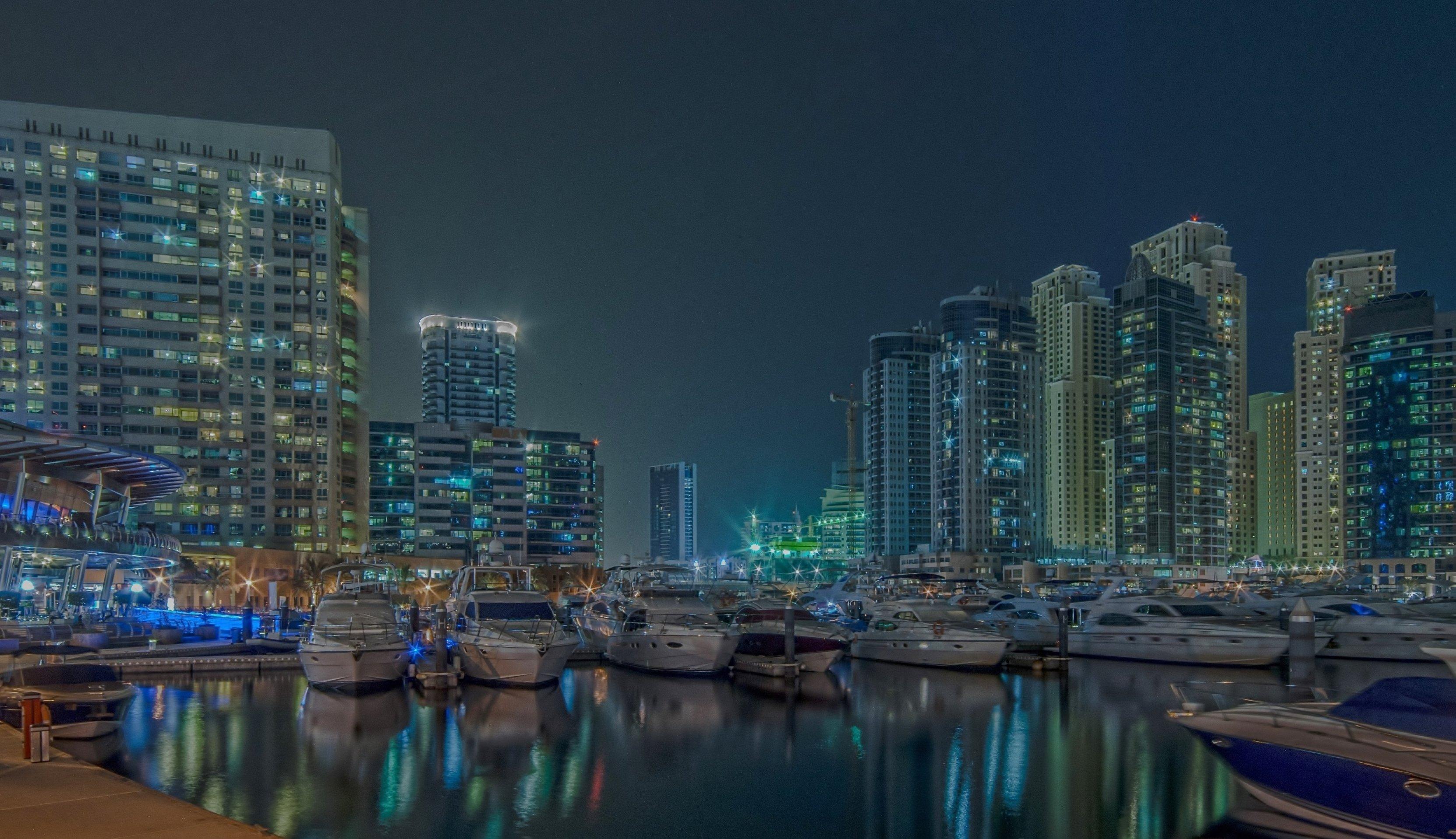 Dubai, Landsacpe, Long exposure, Marina, Night, Jacek