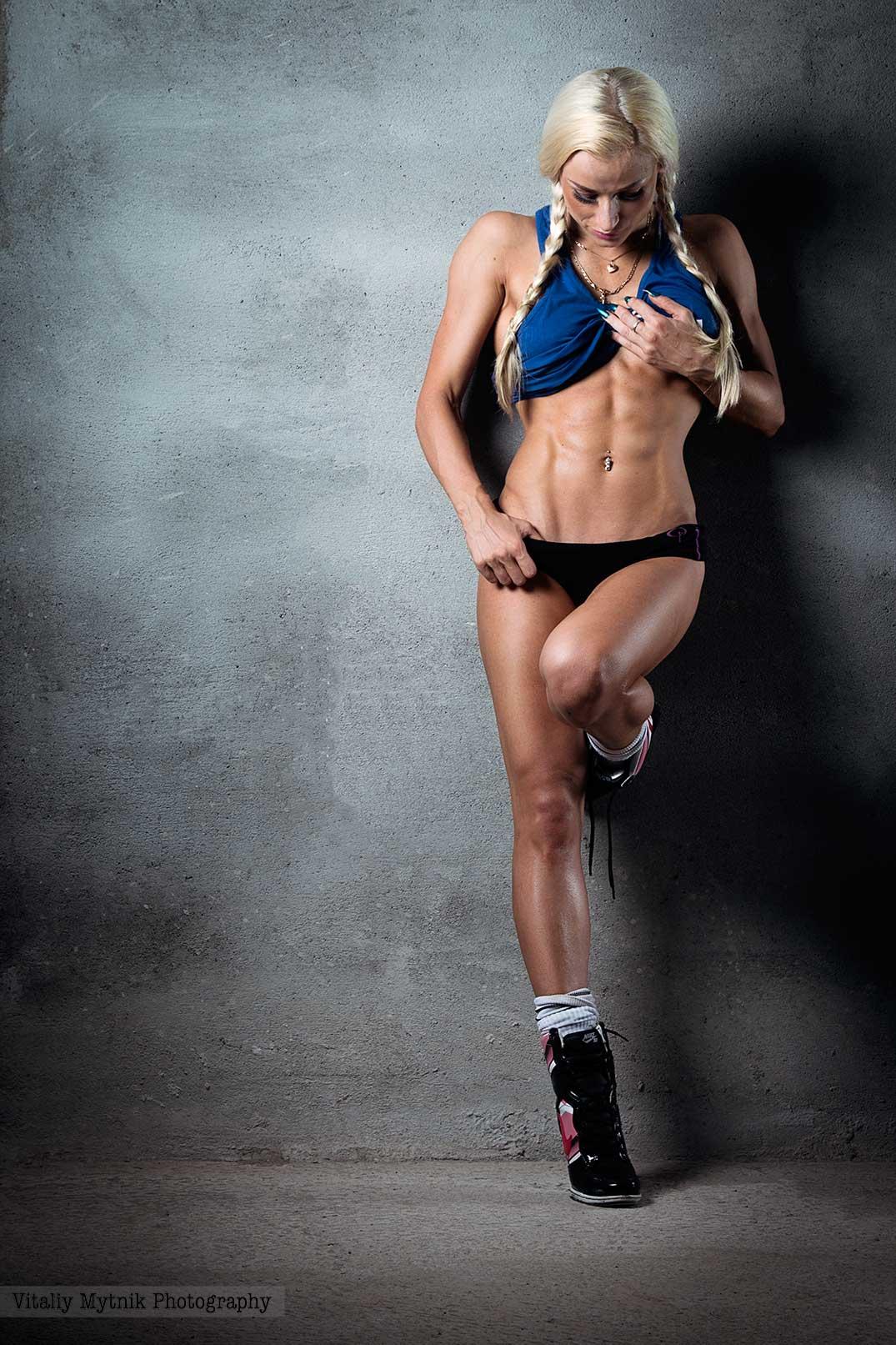 спорт, девушка, блондинка, пресс, мышцы, , Виталий Мытник