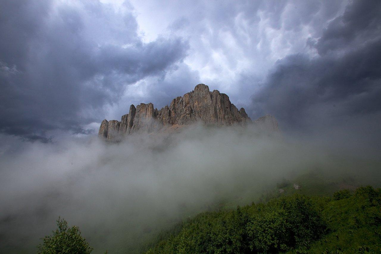 природный парк большой тхач гора кавказ туман непогода буря, Никифоров Егор