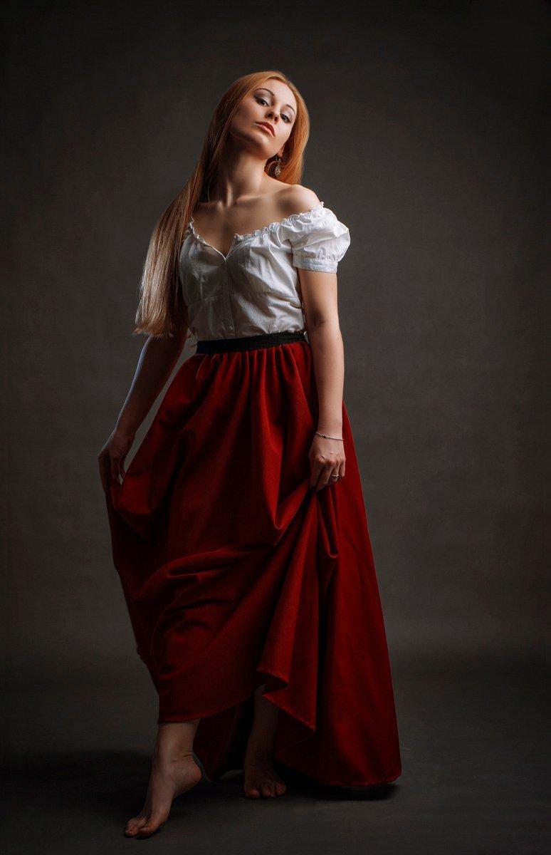 девушка, портрет, Плотников Андрей