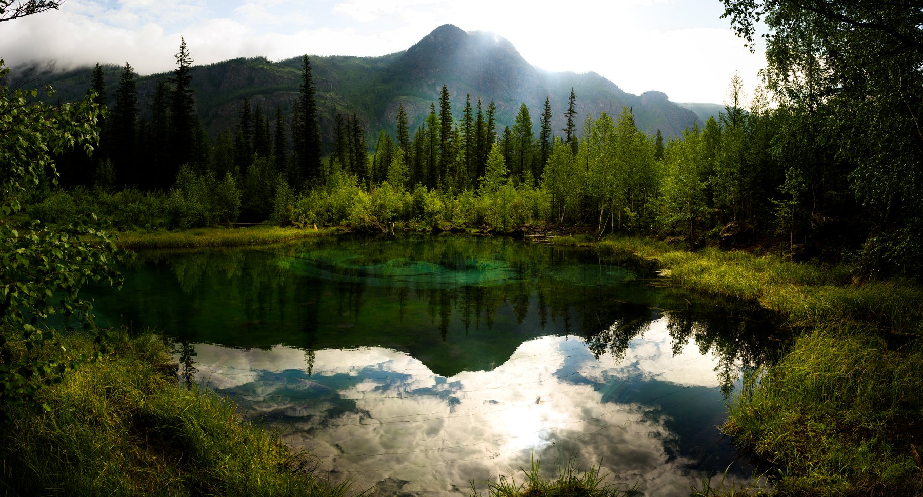 Озеро гейзеров, Республика Алтай, Россия, природа, пейзаж, Карамышев, Роман, Роман Карамышев