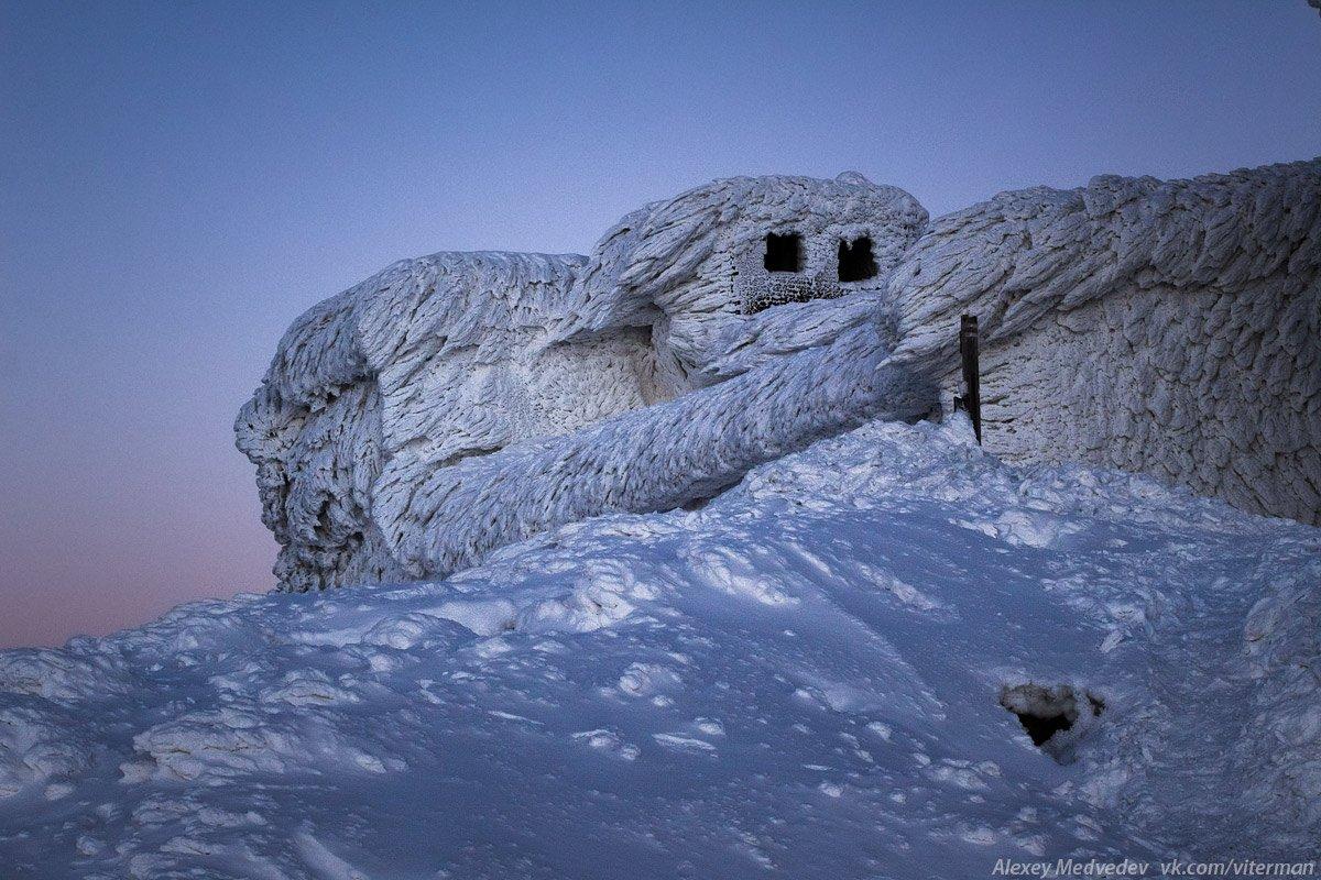 Карпаты, Черногора, Поп-Иван, обсерватория, лед, горы, снег, зима,, Алексей Медведев