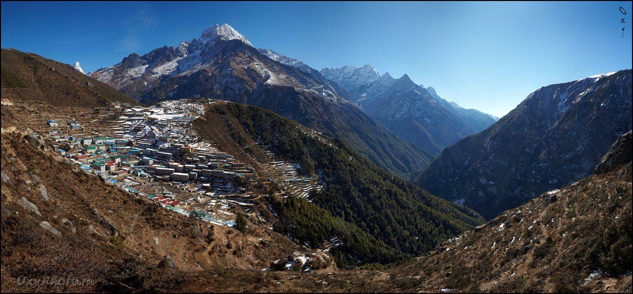непал, гималаи, трек к бл эвереста, nepal, himalaya, trek to bc everest, панорама, panorama, Оксана Борц