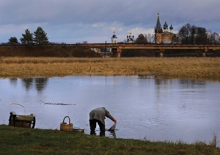 село, река, стирка, Василий Черкасский