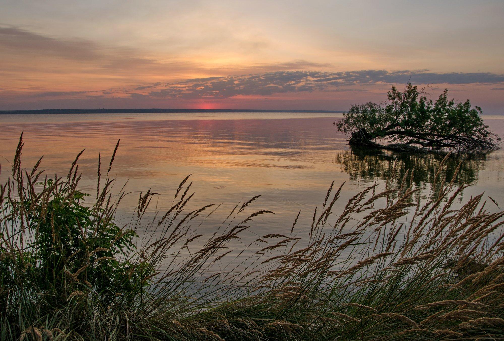 утро, рассвет, восход, река, Валерий Наумов