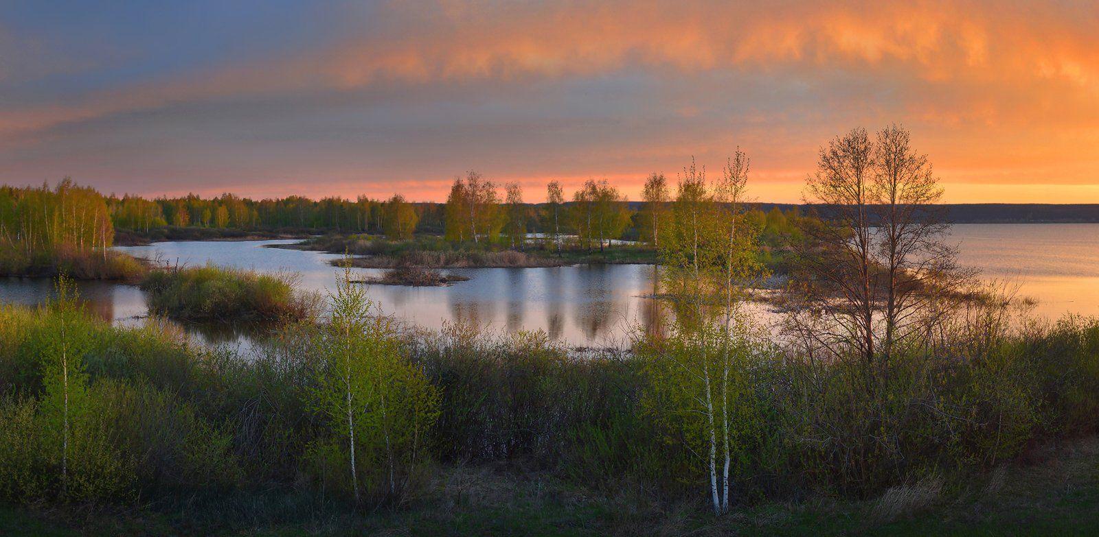 май, непогода, закат, солнечный свет, небо, простор, Irina Shapronova