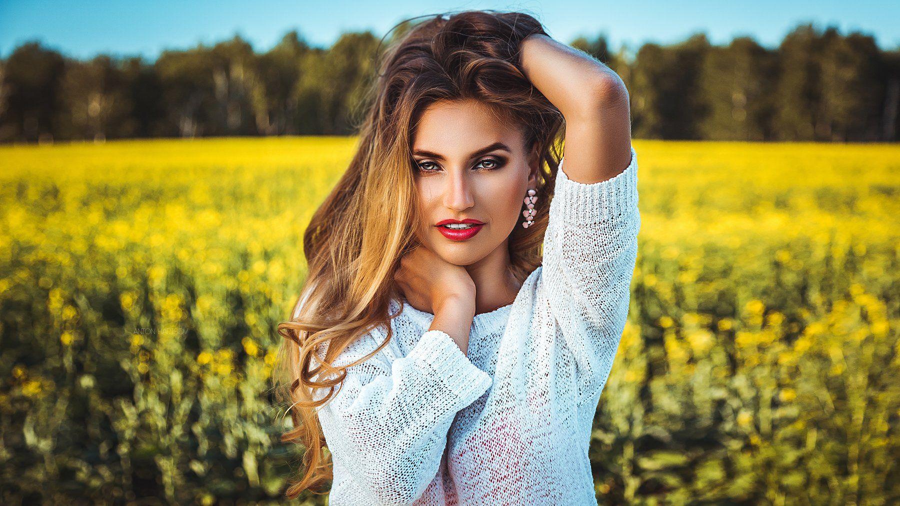 девушка, портрет, красота, Антон Харисов