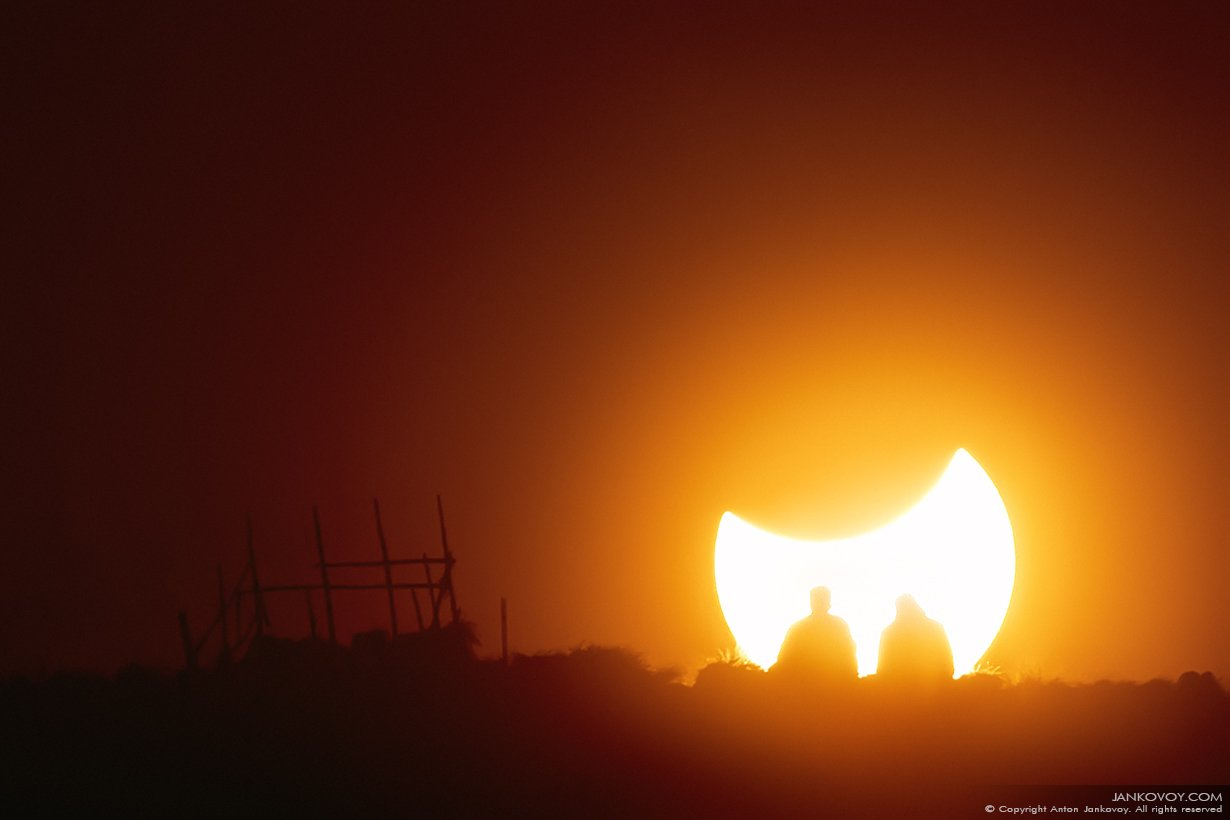 Индонезия, затмение, Солнце, Луна, Бали, Батур, вулкан, силуэт, природа, закат, люди , Антон Янковой (www.photo-travel.com)