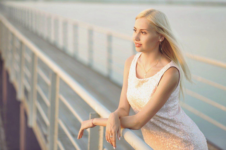 Портрет, Море, женский портрет, Виталий Загинайло