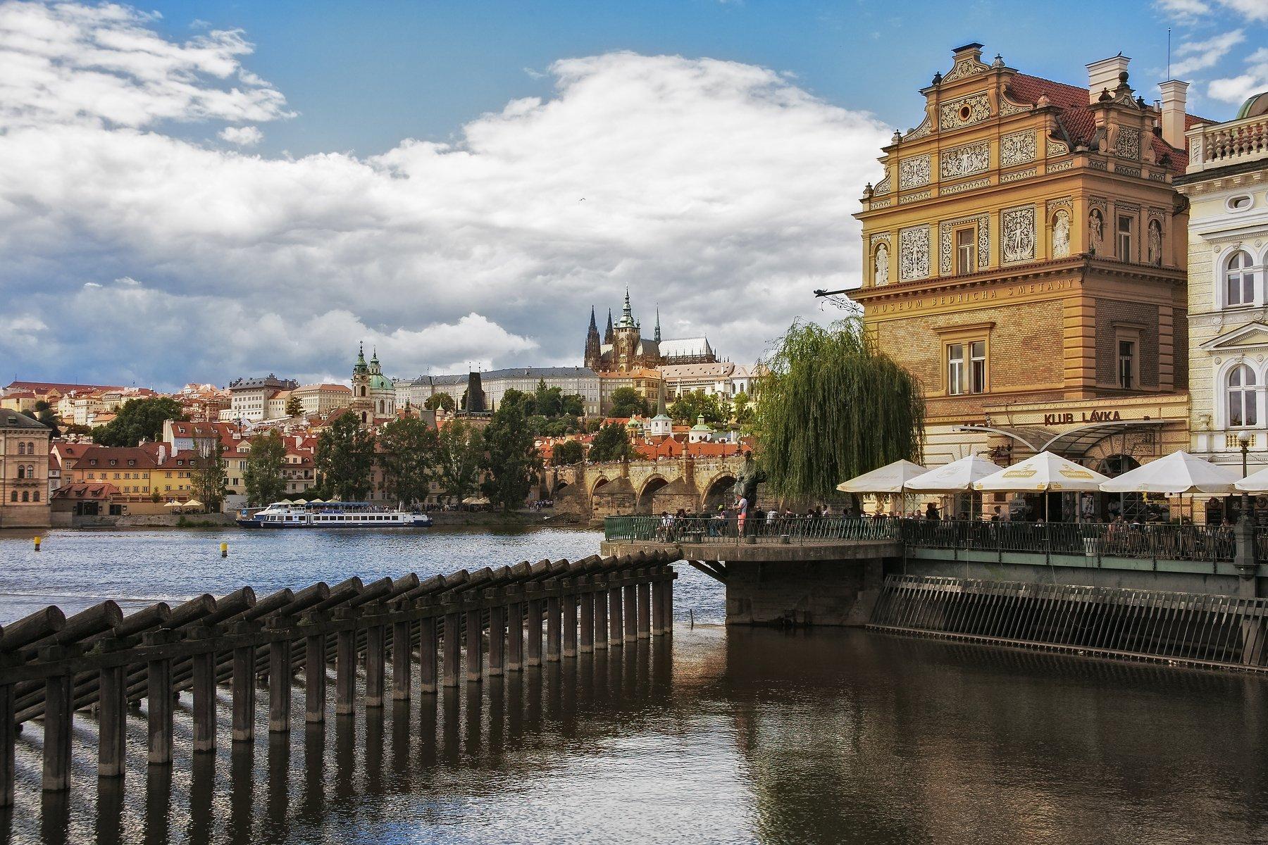 City, Prague, River, Aleksandr