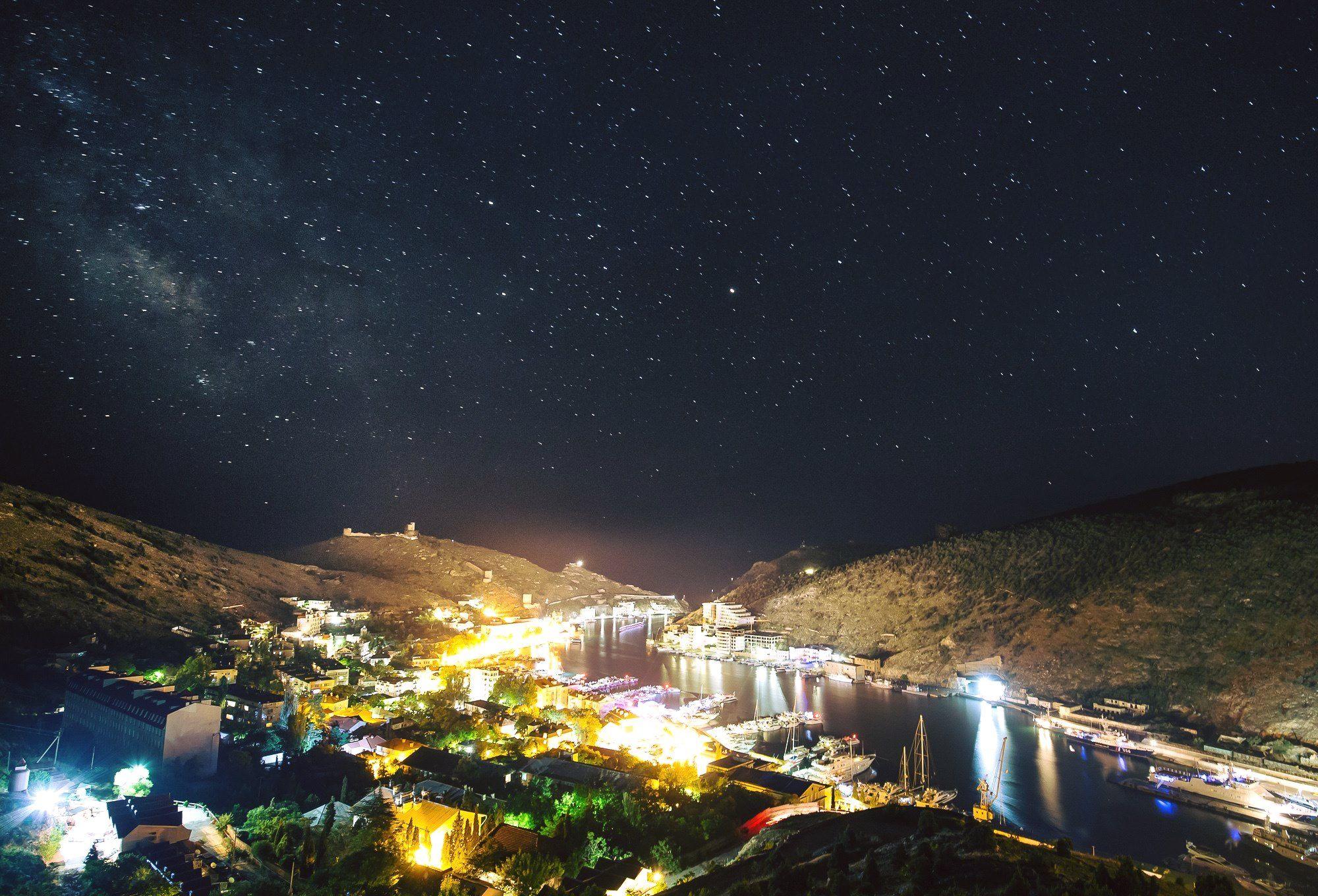 балаклава, ночь, звезды, небо, севастополь, крым, Лариса