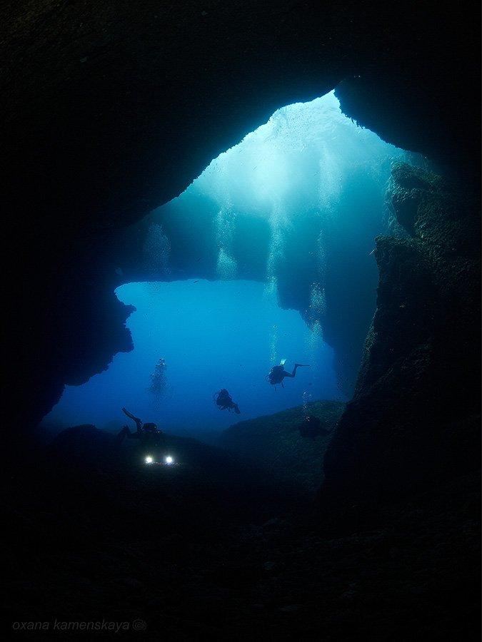 malta gozo blue hole underwater, Оксана Каменская