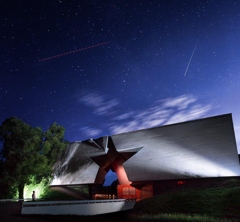 звезды, ночь, Брест, крепость, Фото Брест