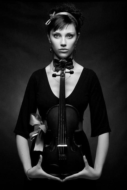 девушка, смоленск, фотостудия, скрипка, Дмитрий Багдасарьян