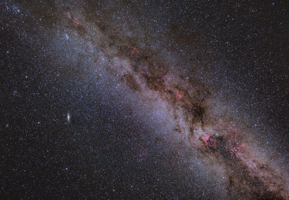 Млечный Путь, Космос, Туманности, Ионизированный водород, Подмосковье, Борис Богданов