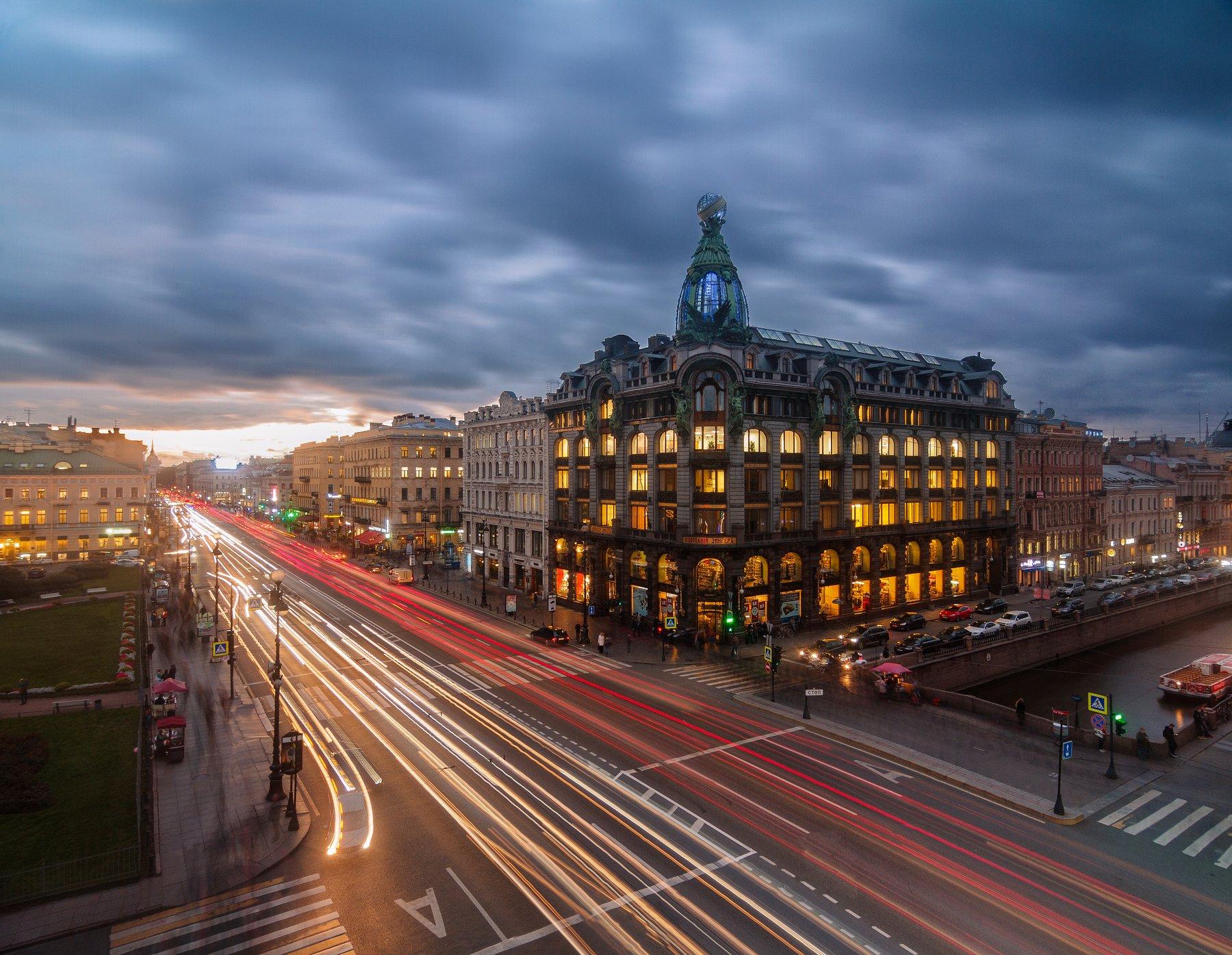 Санкт-Петербург, город, ночь, Urban, Urban Exploration, выдержка, Голубев Алексей