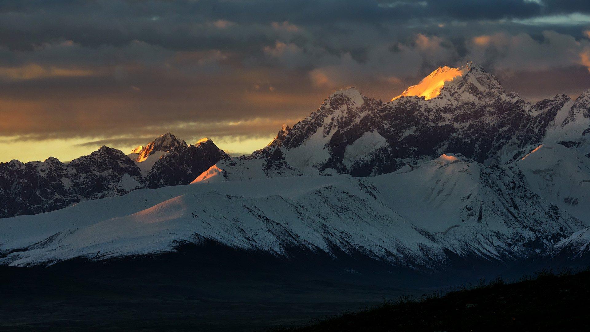 пейзаж, горы, киргизия, Vasca