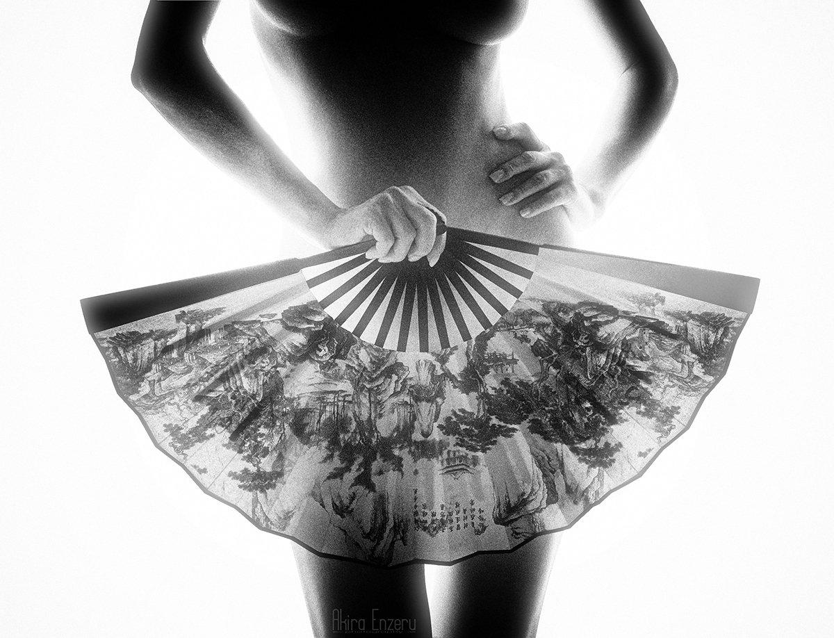 Black & white, Fantasy, Nude, Akira Enzeru