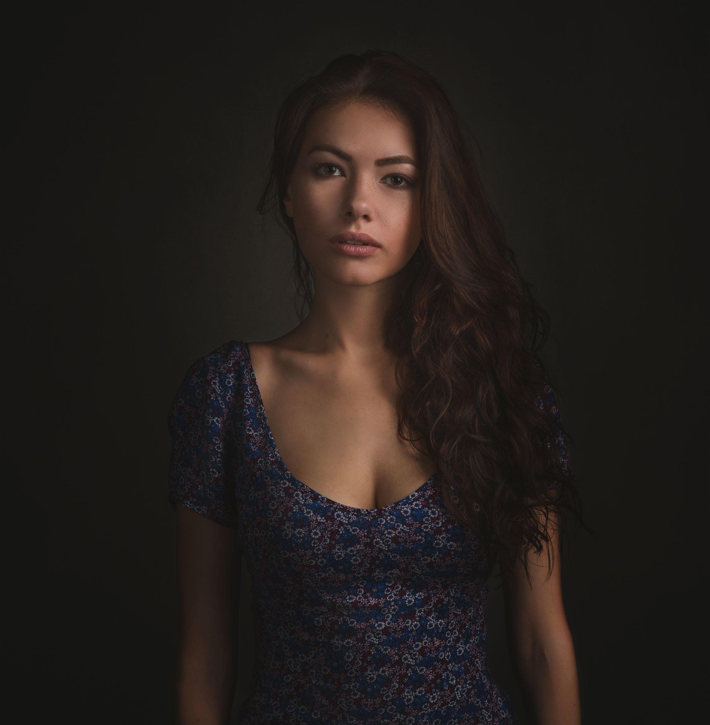 портрет девушки, студия, вспышка, Бутвиловский Дмитрий