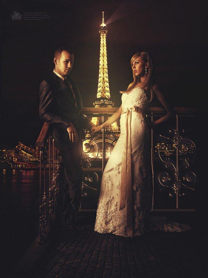 париж, свадьба, молодожены, эйфелева башня, крутая фотка..., Zorik Istomin