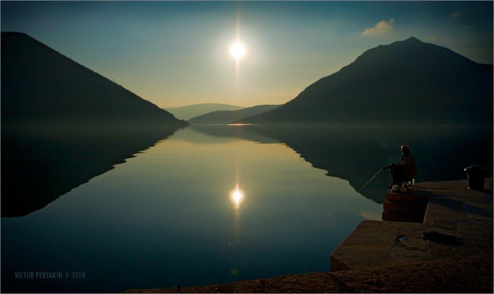 черногория, которский, залив, пераст, рыбак, тишина, рай, Виктор Перякин