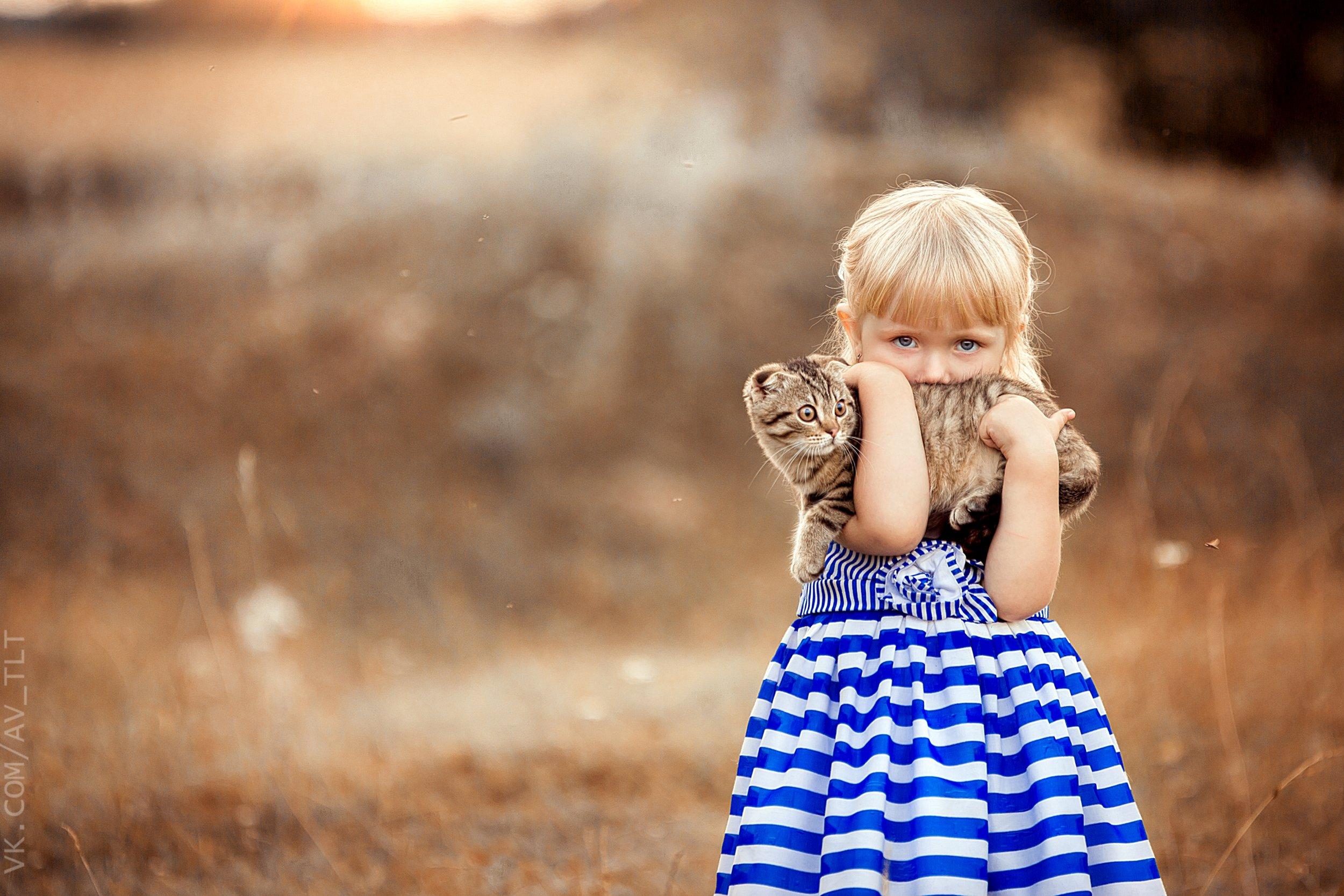 ребенок,улыбка,портрет,котенок, Сухарь Александр