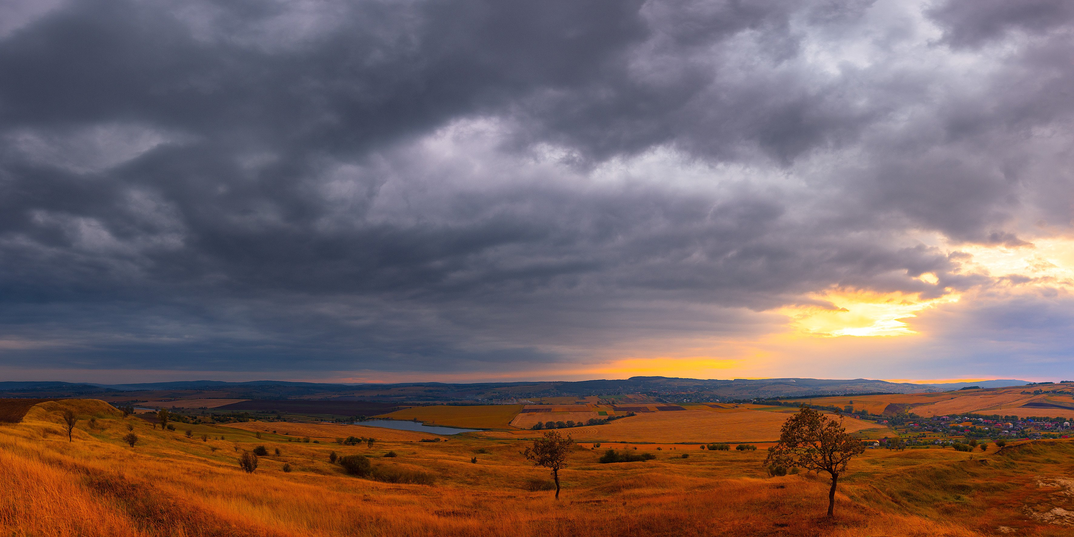 пейзаж, закат, панорама, Лозовский Чеслав