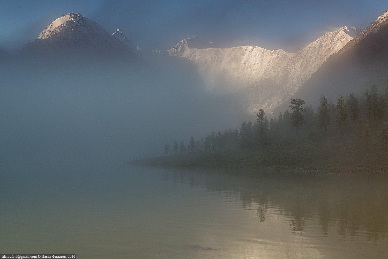 altai, belukha, fog, siberia, алтай, белуха, сибирь, туман, Павел Филатов
