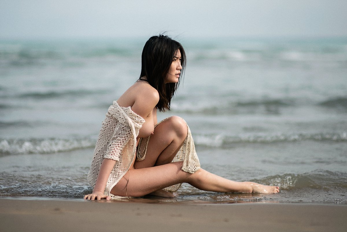 девушка, море, пляж, красивая, портрет, ню, nikon, 85mm, Абдрахманов Аскар