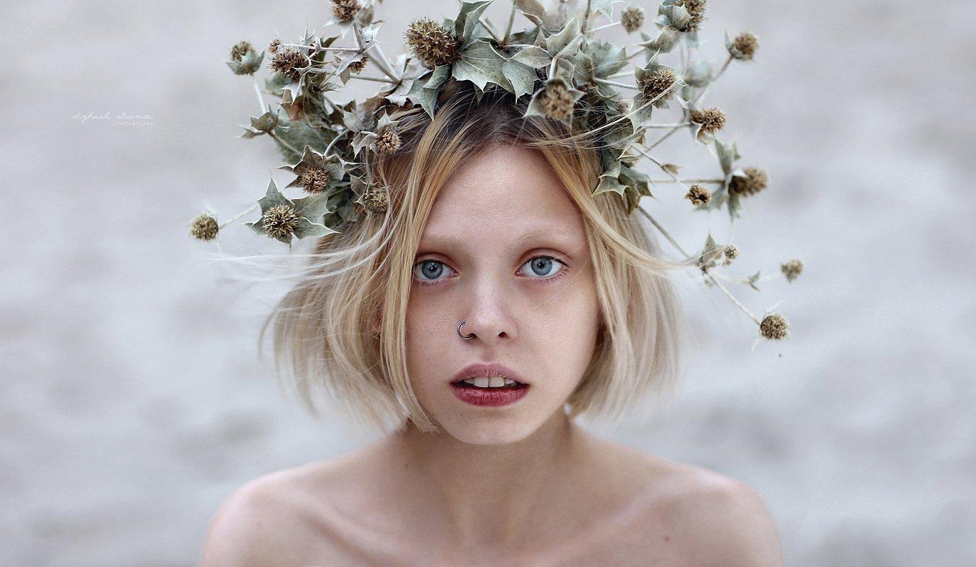 Beautiful, Girl, People, Portrait, Weed, Венок, Девушка, Люди, Портерт, Ирина Джуль