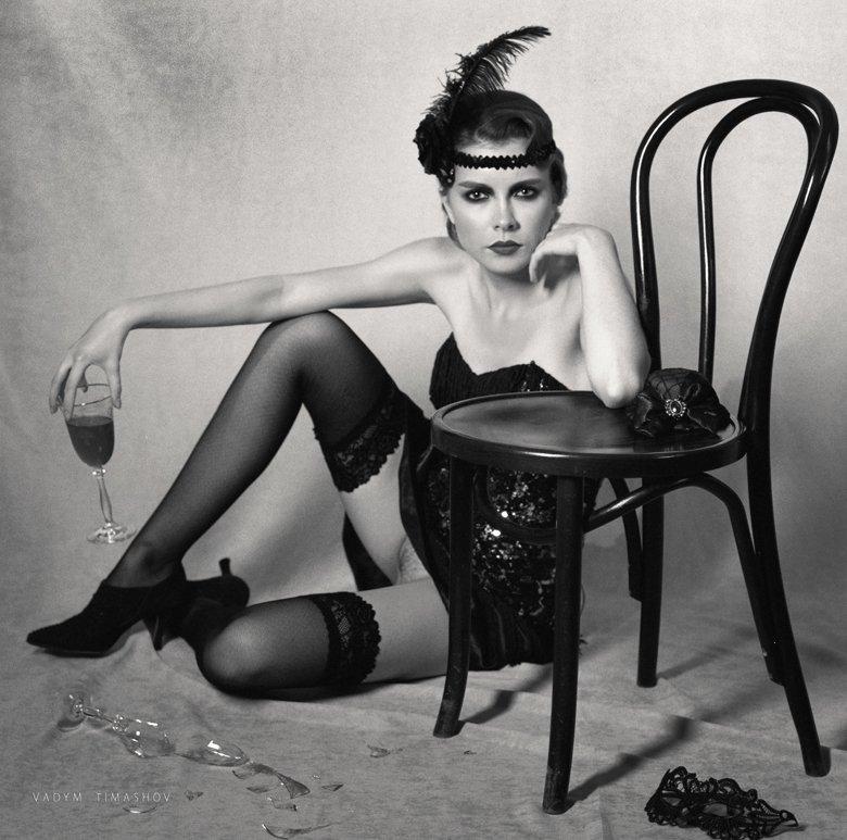 Art, Beauty, Black and white, Nude, Retro, Вадим Тимашов