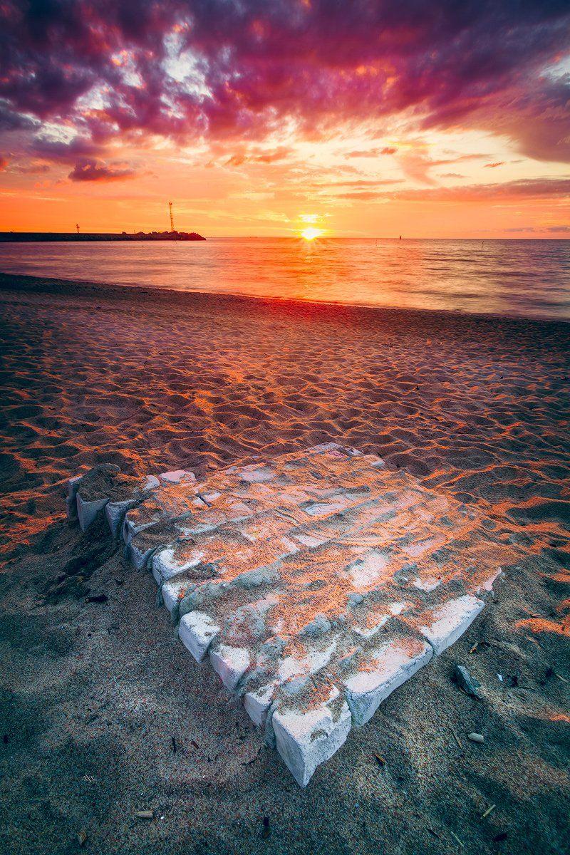 Baltic Sea, Colors, Klaipeda, Sunset, Руслан Болгов (Axe)