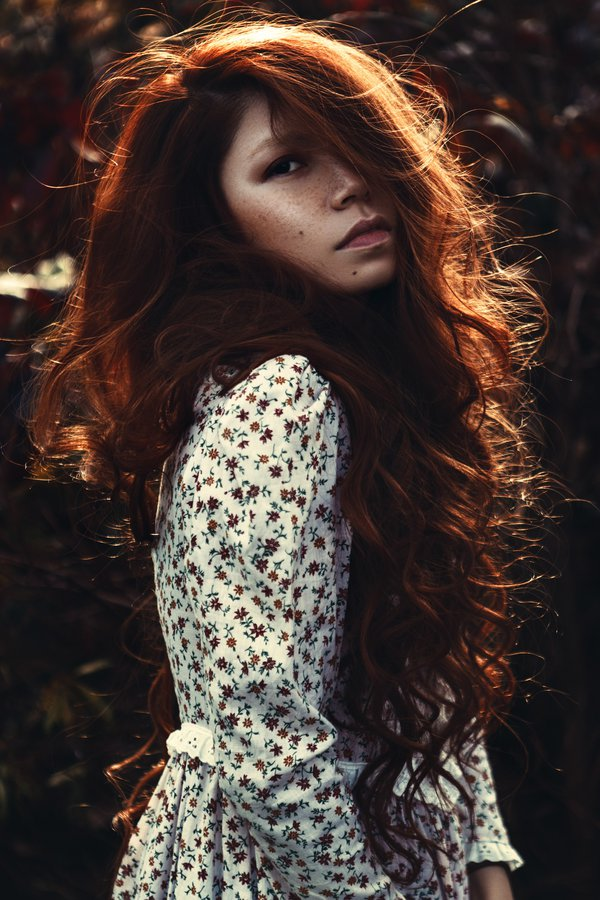 Art photo, Autumn, Fall, Fineart, Freckles, Location, Longhair, Paris, Portrait, Red, Redhair, Redhead, Romantic, Caroline Madison