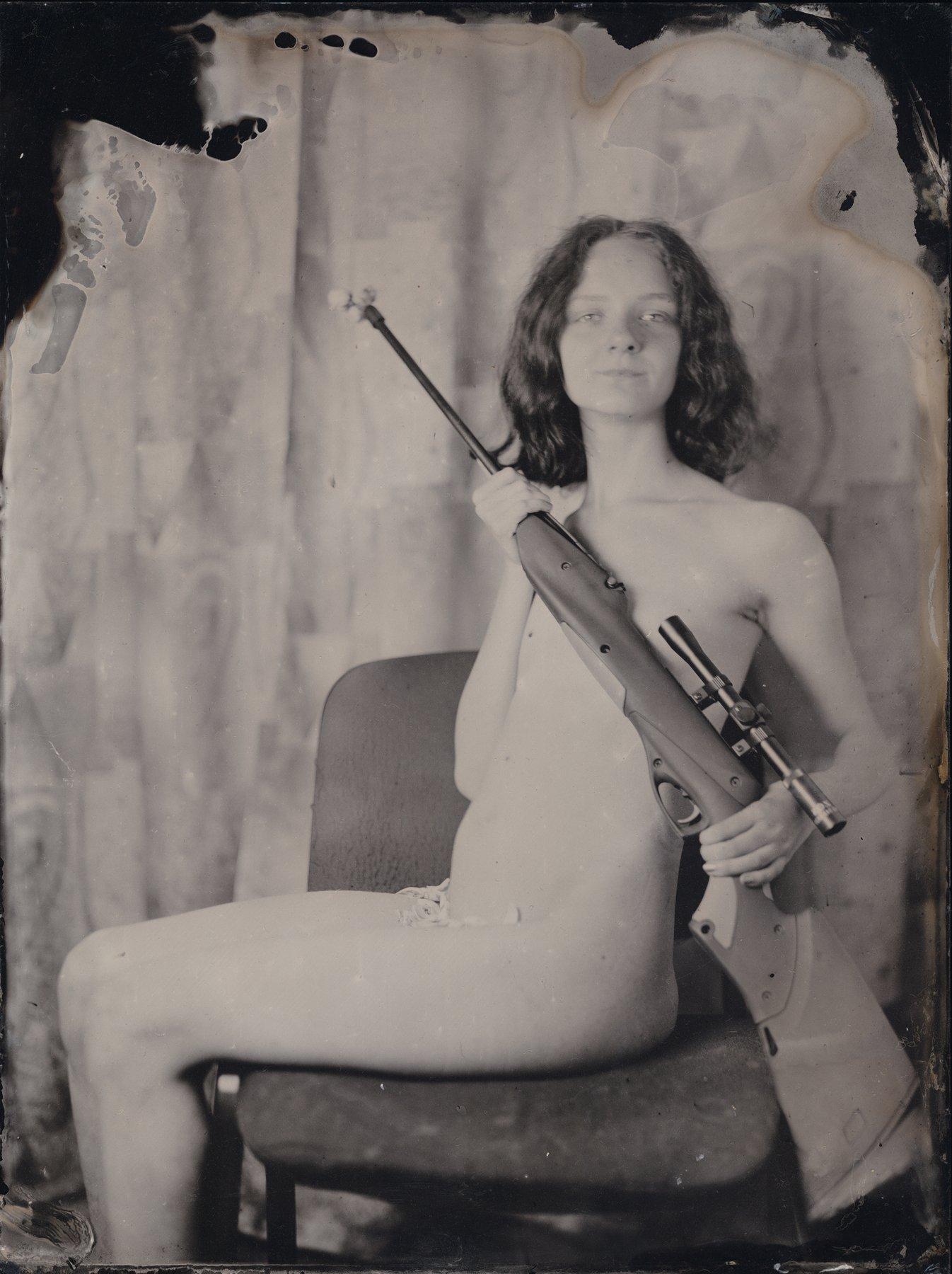 коллодий, амбротип, портрет, оружие, розы, Сергей