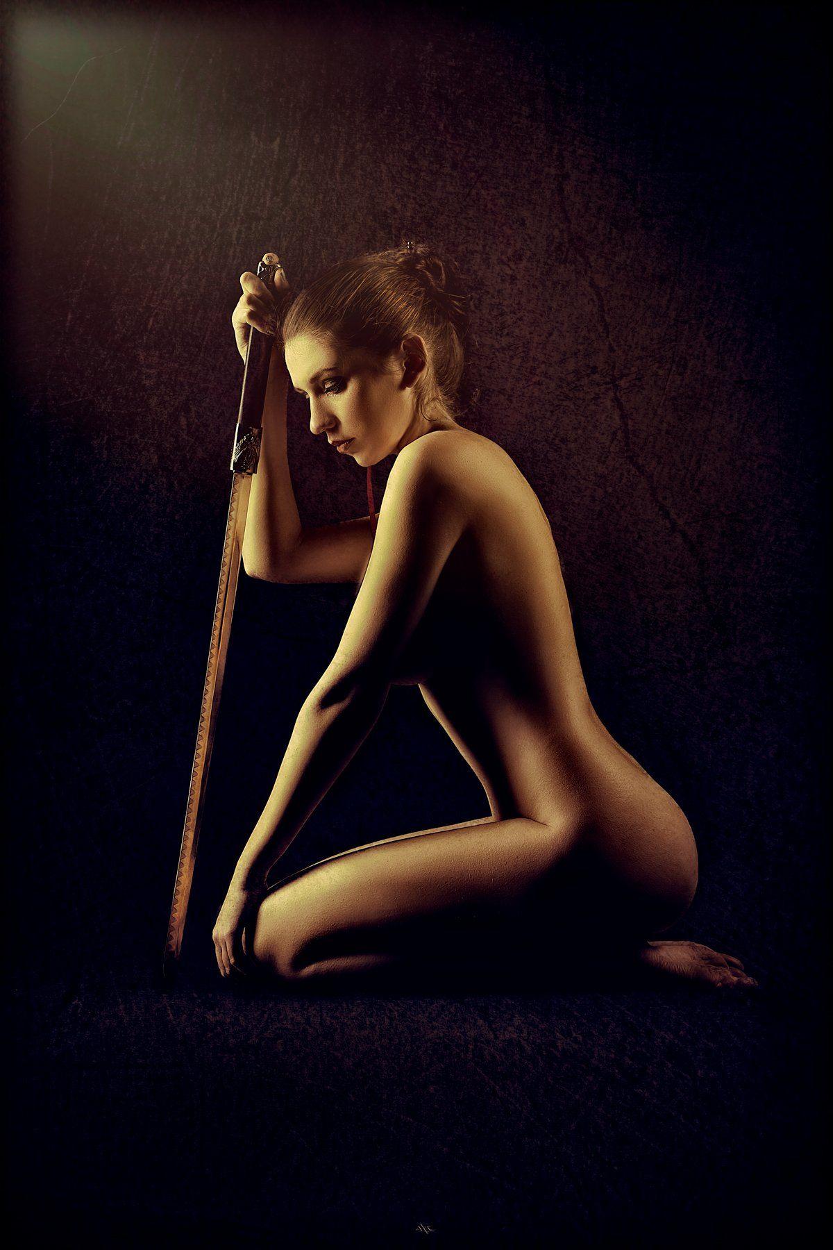 Nude, Studio, Sword, Woman, Руслан Болгов (Axe)