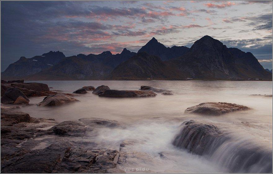 Горы, Лофотены, Норвегия, Облака, Yuppi Du