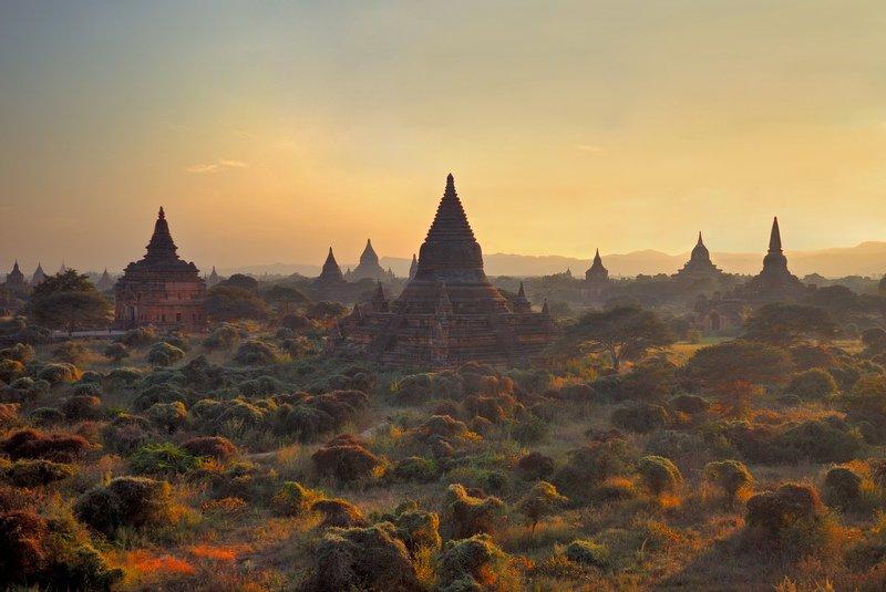 бирма,баган,пагода, fotomafia