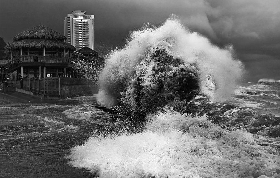 море, сочи, шторм, чёрное море, малибу, набережная, стихия, природа, катастрофа, Sergey