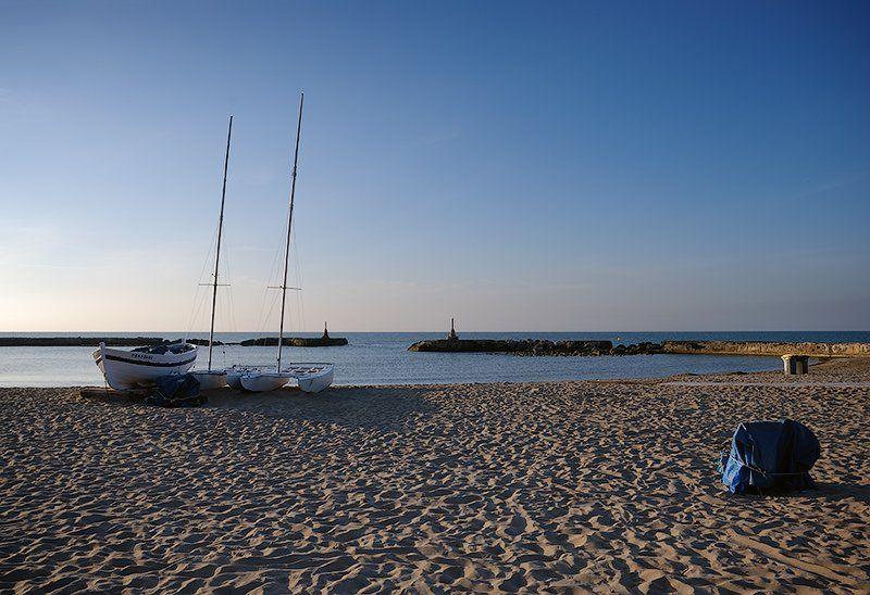 море, испания, пейзаж, лодки, esquirol